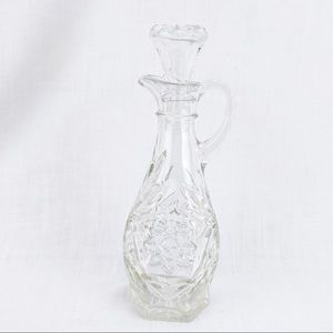 Vintage Clear Glass Cruet Decanter with Stopper